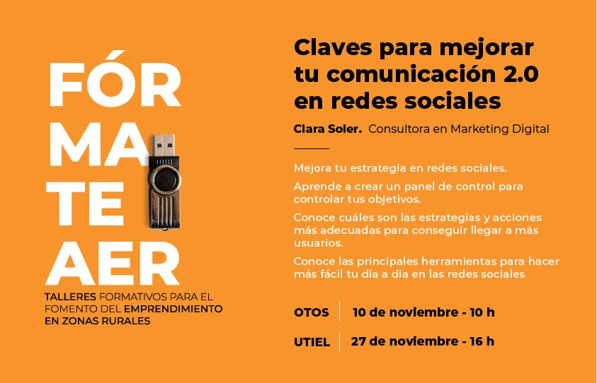 Taller de Clara Soler: Mejora tu Comunicación 2.0 en redes sociales